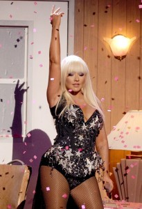 Christina Aguilera in The Blonds for her performance at The American Music Awards 2012.