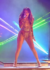 Jennifer Lopez in The Blonds for the Premios Juventud 2013 Awards.