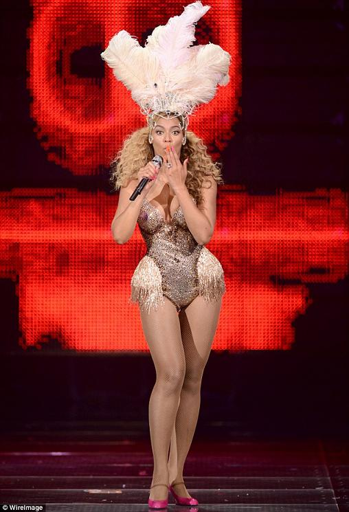 Beyonce in The Blonds for her concerts at Revel Resorts in 2012.