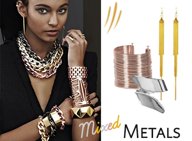 gold silver or rose gold mix metals and rock all three